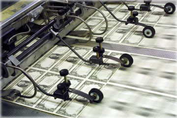 Federal Reserve Notes come off the assembly line. How much money and debt does the Federal Reserve have?