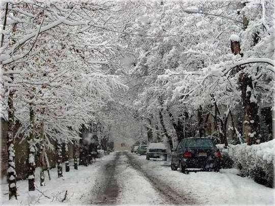 Tehran in winter, February 2001